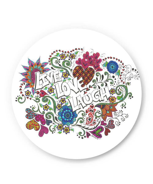 PosterGuy | Live Love Laugh Art Illustration Fridge Magnet Online India by Surabhi Kuthiala
