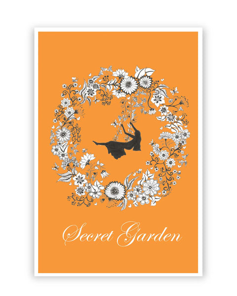 Posters Online | Secret garden Art Illustration Poster Online India | Designed by: Surabhi Kuthiala