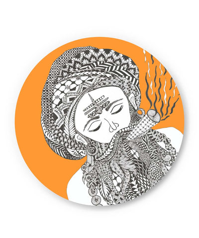 PosterGuy | Holy Smoke | Line Art Fridge Magnet Online India by Surabhi Kuthiala
