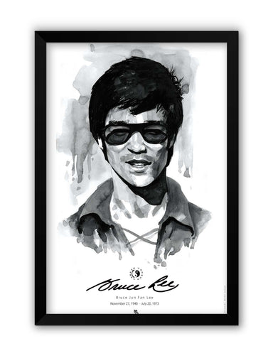 Framed Posters | Bruce Lee Graphic Illustration Laminated Framed Poster Online India