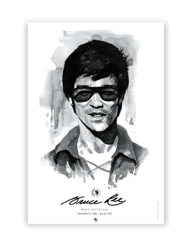 Posters Online | Bruce Lee Graphic Illustration Poster Online India | Designed by: Mohit Suneja