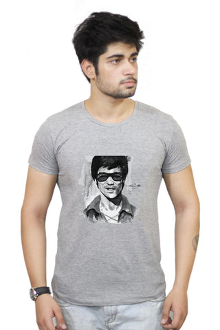 Buy Bruce Lee Graphic Illustration T-Shirts Online India | Bruce Lee Graphic Illustration T-Shirt | PosterGuy.in