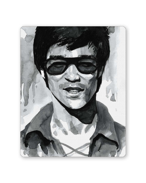 Buy Mousepads Online India | Bruce Lee Graphic Illustration Mouse Pad Online India