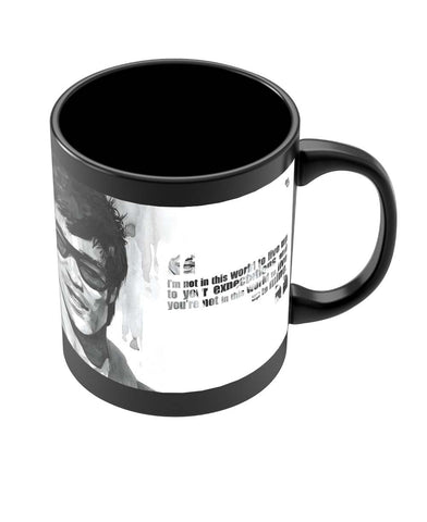Coffee Mugs Online | Bruce Lee Graphic Illustration Black Coffee Mug Online India