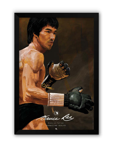 Framed Posters | Bruce Lee Standing Laminated Framed Poster Online India