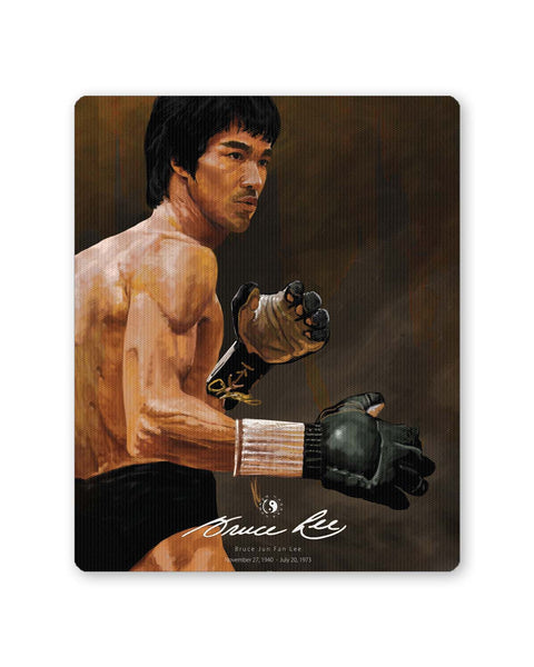 Buy Mousepads Online India | Bruce Lee Standing Mouse Pad Online India