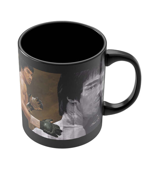 Coffee Mugs Online | Bruce Lee Standing Black Coffee Mug Online India
