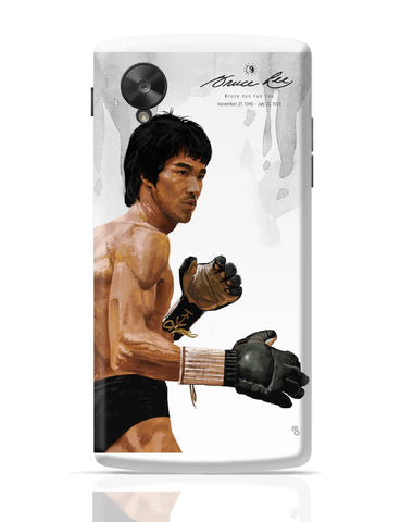 Google Nexus 5 Covers | Bruce Lee Standing Google Nexus 5 Cover Online India