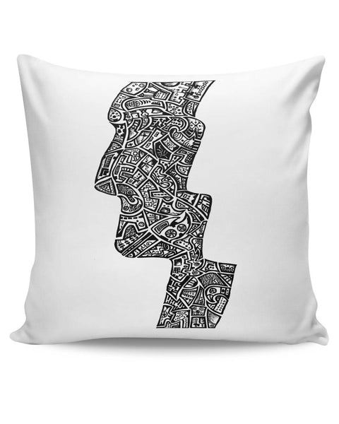 PosterGuy | Face Line Art Sketch Cushion Cover Online India