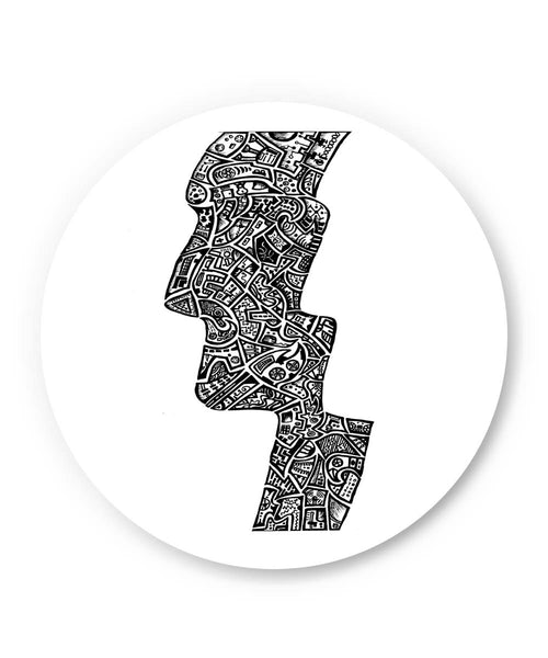 PosterGuy | Face Line Art Sketch Fridge Magnet Online India by Wut