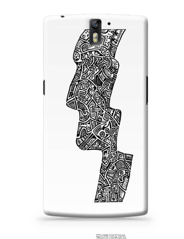 OnePlus One Covers | Face Line Art Sketch OnePlus One Cover Online India