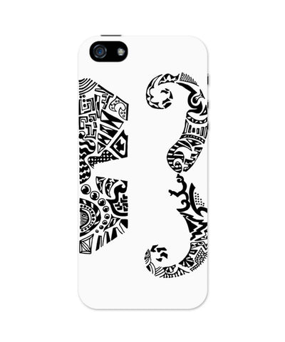 iPhone 5 / 5S Cases & Covers | Moustache Line Art iPhone 5 / 5S Case Online India