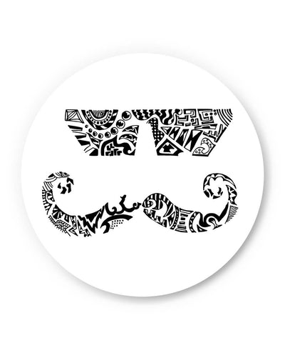 PosterGuy | Moustache Line Art Fridge Magnet Online India by Wut