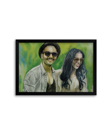 Framed Posters | Deepika padukone and Ranveer Singh Fan Art Laminated Framed Poster Online India