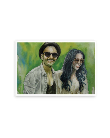 Posters Online | Deepika padukone and Ranveer Singh Fan Art Poster Online India | Designed by: Anshu_Art