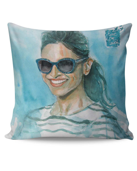PosterGuy | Deepika Padukone | Live Love Laugh Cushion Cover Online India