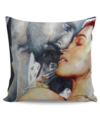 PosterGuy | Ranveer Singh And Deepika Padukone Candid Painting Cushion Cover Online India
