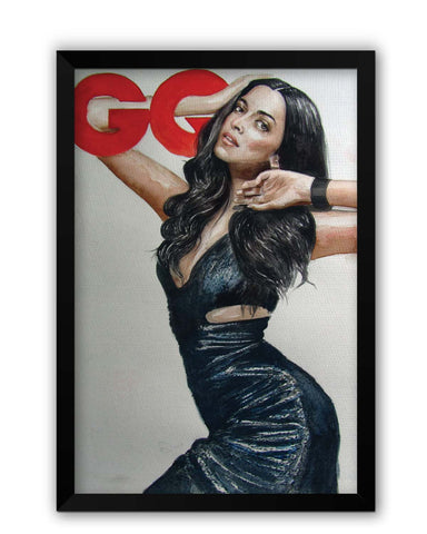 Framed Posters | Deepika Padukone Illustration Laminated Framed Poster Online India