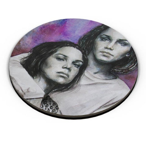 PosterGuy | Twin Sisters (Gayle and Deveney Dweltz) Fridge Magnet Online India by Anshu Art