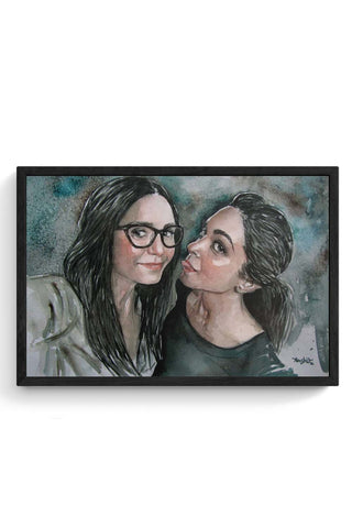 Nina Doberov With Deepika Padukone Framed Poster Online India