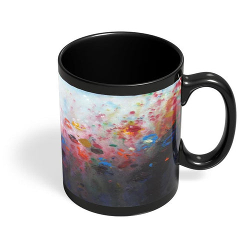 Floral Abstract Black Coffee Mug Online India