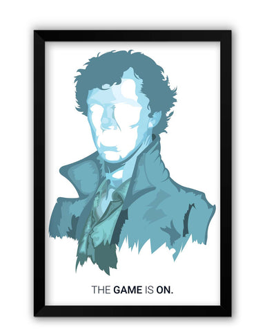 Framed Posters | Sherlock Holmes | Benedict Cumberbatch Vector Illustration Laminated Framed Poster Online India