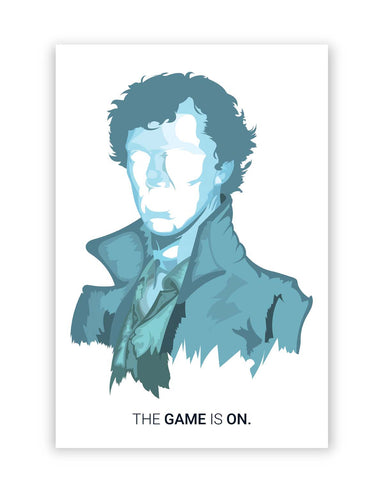 Posters Online | Sherlock Holmes | Benedict Cumberbatch Vector Illustration Poster Online India | Designed by: Arimit Bhattacharya