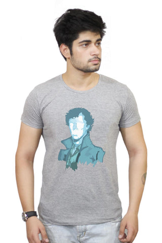 Buy Sherlock Holmes | Benedict Cumberbatch Vector Illustration T-Shirts Online India | Sherlock Holmes | Benedict Cumberbatch Vector Illustration T-Shirt | PosterGuy.in