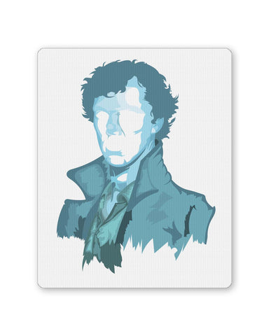 Buy Mousepads Online India | Sherlock Holmes | Benedict Cumberbatch Vector Illustration Mouse Pad Online India