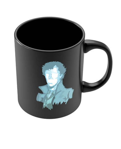 Coffee Mugs Online | Sherlock Holmes | Benedict Cumberbatch Vector Illustration Black Coffee Mug Online India