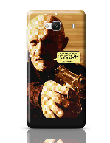 Xiaomi Redmi 2 / Redmi 2 Prime Cover| Mike Braking Bad Inspired Fan Art Quote Redmi 2 / Redmi 2 Prime Cover Online India