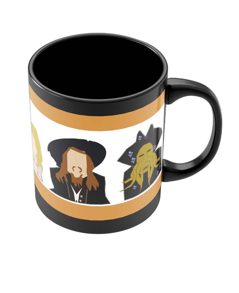 Coffee Mugs Online | Pirates of The Caribbean Pop Art Black Coffee Mug Online India