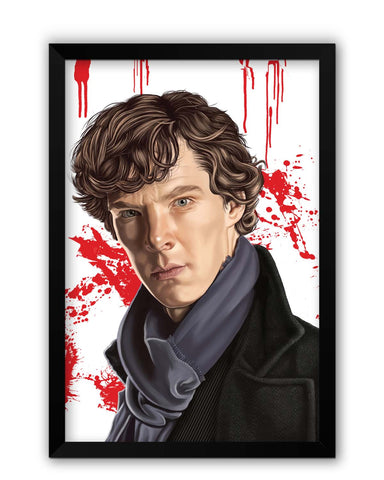 Framed Posters | Sherlock Holmes Benedict Cumberbatch Fan Art Laminated Framed Poster Online India