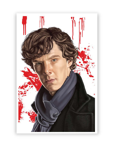 Posters Online | Sherlock Holmes Benedict Cumberbatch Fan Art Poster Online India | Designed by: Chaitanya Kumar