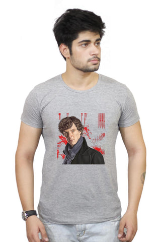 Buy Sherlock Holmes Benedict Cumberbatch Fan Art T-Shirts Online India | Sherlock Holmes Benedict Cumberbatch Fan Art T-Shirt | PosterGuy.in