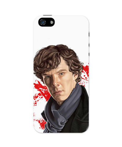 iPhone 5 / 5S Cases & Covers | Sherlock Holmes Benedict Cumberbatch Fan Art iPhone 5 / 5S Case Online India