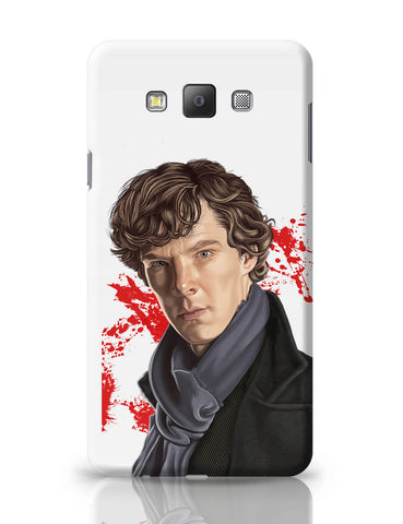 Samsung Galaxy A7 Covers | Sherlock Holmes Benedict Cumberbatch Fan Art Samsung Galaxy A7 Covers Online India
