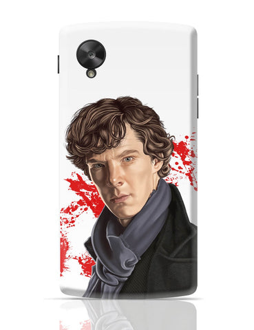 Google Nexus 5 Covers | Sherlock Holmes Benedict Cumberbatch Fan Art Google Nexus 5 Cover Online India