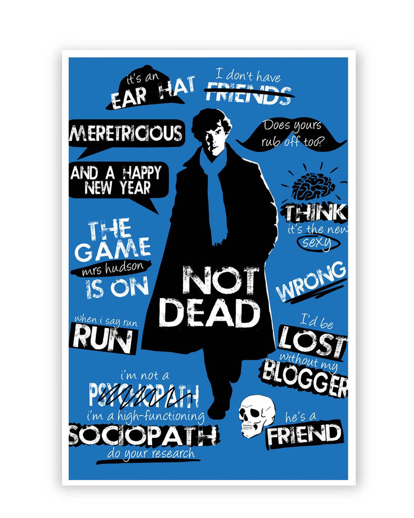 posters online india sherlock holmes typography quotes inspired
