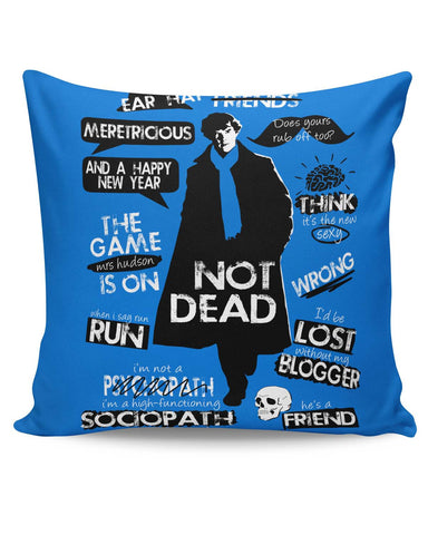 PosterGuy | Sherlock Holmes Typography Quotes Inspired From TV Series Cushion Cover Online India
