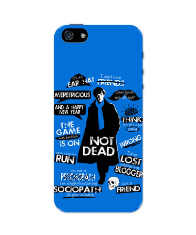 iPhone 5 / 5S Cases & Covers | Sherlock Holmes Typography Quotes Inspired From TV Series iPhone 5 / 5S Case Online India