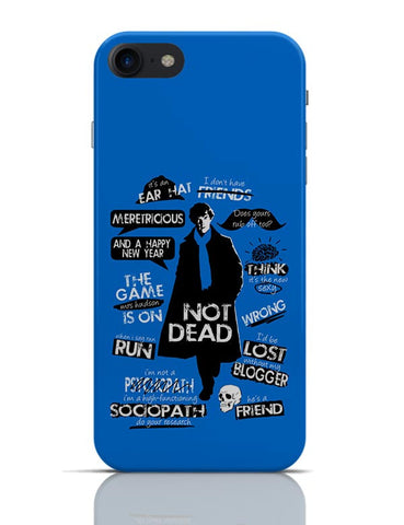 Sherlock Holmes Typography Quotes Inspired From TV Series iPhone 7 Covers Cases Online India