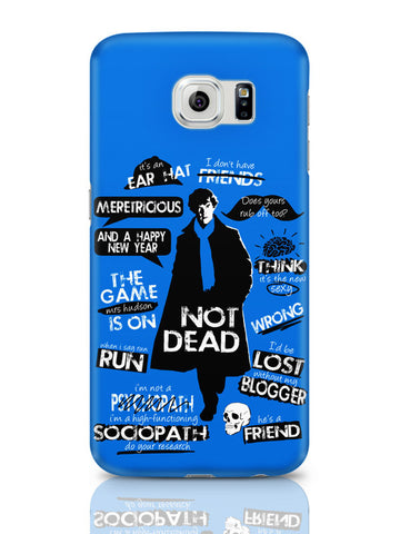 Samsung Galaxy S6 Covers & Cases | Sherlock Holmes Typography Quotes Inspired From Tv Series Samsung Galaxy S6 Covers & Cases Online India