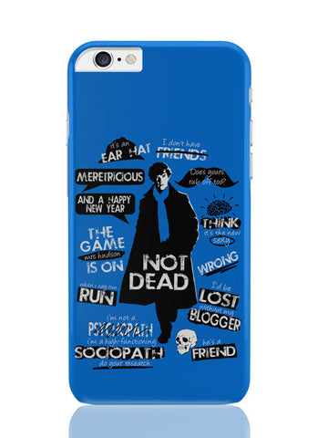 iPhone 6 Plus / 6S Plus Covers & Cases | Sherlock Holmes Typography Quotes Inspired From Tv Series iPhone 6 Plus / 6S Plus Covers and Cases Online India