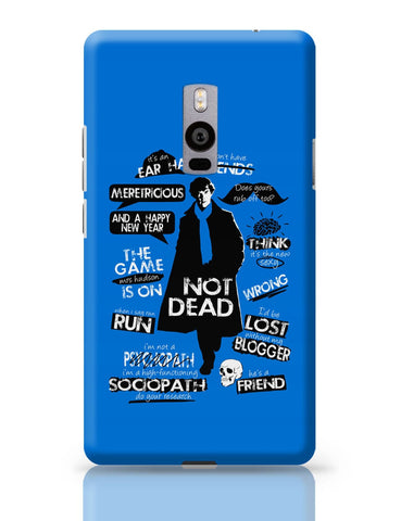 OnePlus Two Covers | Sherlock Holmes Typography Quotes Inspired From TV Series OnePlus Two Cover Online India