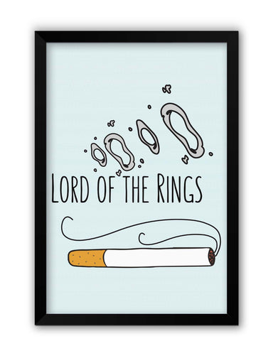 Framed Posters | Lord Of The Rings Parody Cigarette Rings Laminated Framed Poster Online India