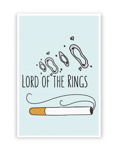 Posters Online | Lord Of The Rings Parody Cigarette Rings Poster Online India | Designed by: Chachi Chaudhari