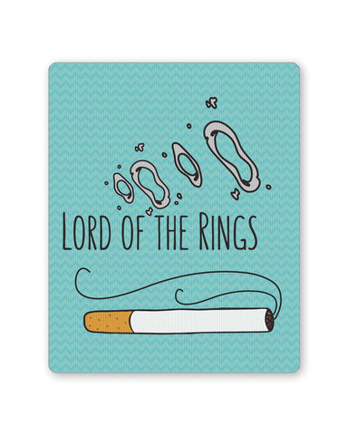 Buy Mousepads Online India | Lord Of The Rings Parody Cigarette Rings Mouse Pad Online India