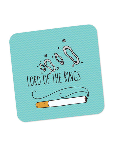 Buy Coasters Online | Lord Of The Rings Parody Cigarette Rings Coaster Online India | PosterGuy.in