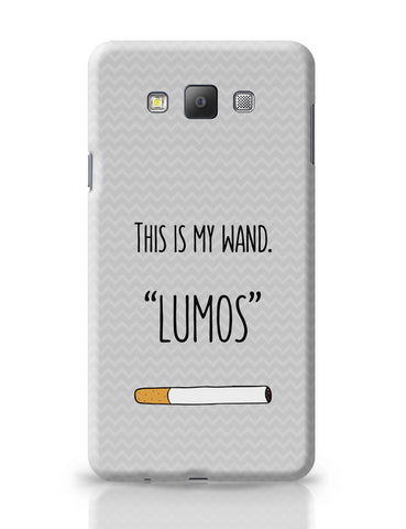 Samsung Galaxy A7 Covers | This Is My Wand Lumos Cigarette Samsung Galaxy A7 Covers Online India